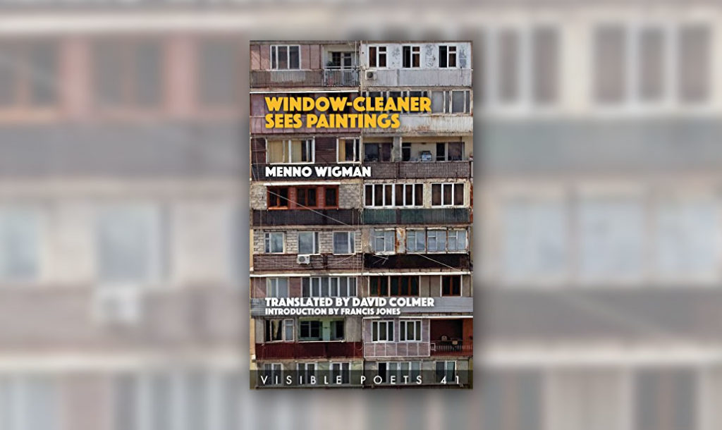 Cover image of window cleaner sees paintings, in review of menno wigman