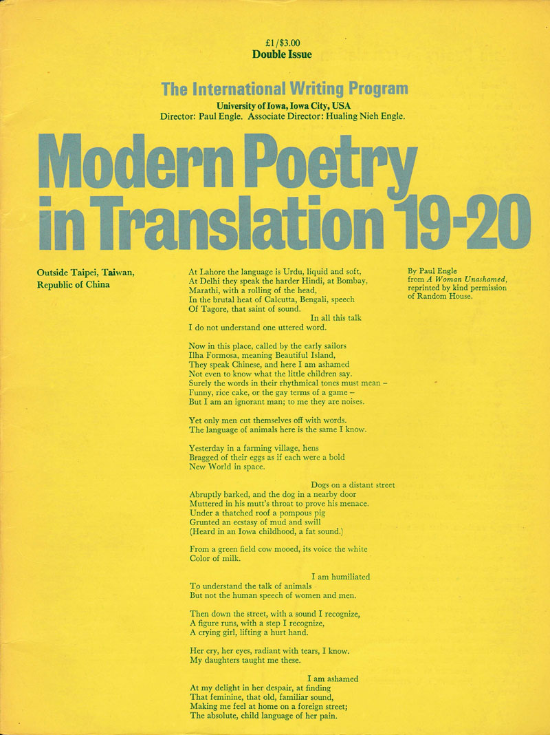 History - Modern Poetry in Translation