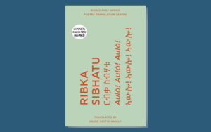 Cover of Ribka Sibhatu's book on a dark blue background